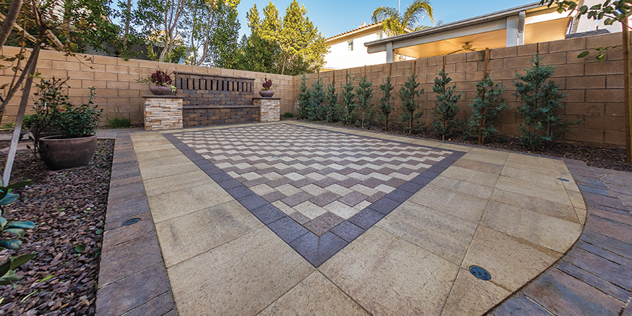 Modern Paving Custom Splash Pads Cover